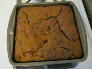 The finished cake.